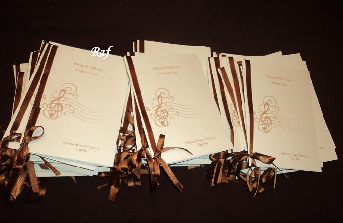 Matrimonio Tema Musica : Creazioni di raf wedding creations libretti messa per