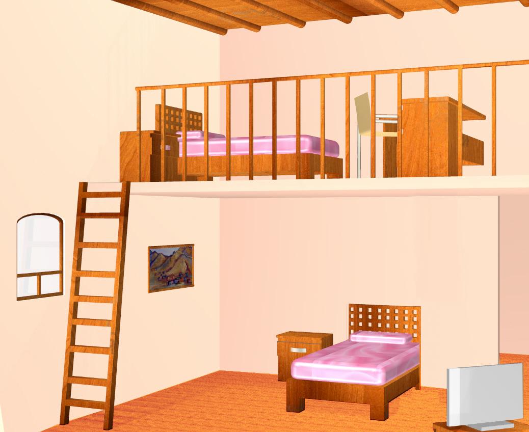 Decoraci n y dise o tapanco cuarto para ni as dise o y for Diseno de interiores de cuartos pequenos