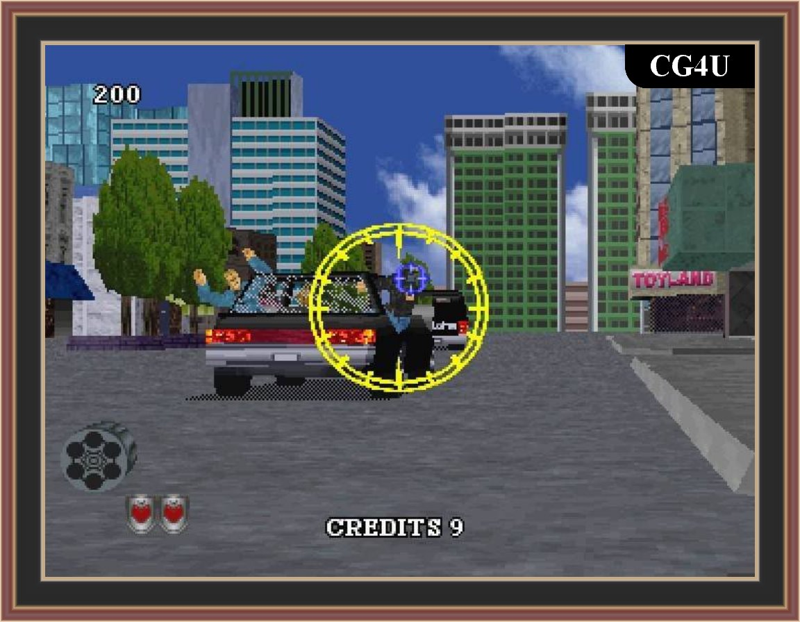 Virtua Cop 2 Game Screenshot