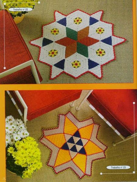 Patrones de tapetes ganchillo con motivo geométrico