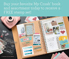 June buy your favorite My Crush Book and receive a FREE stamp set