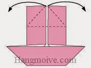 Bước 7: Tương tự như bước 5 + 6 với cạnh trên của tờ giấy