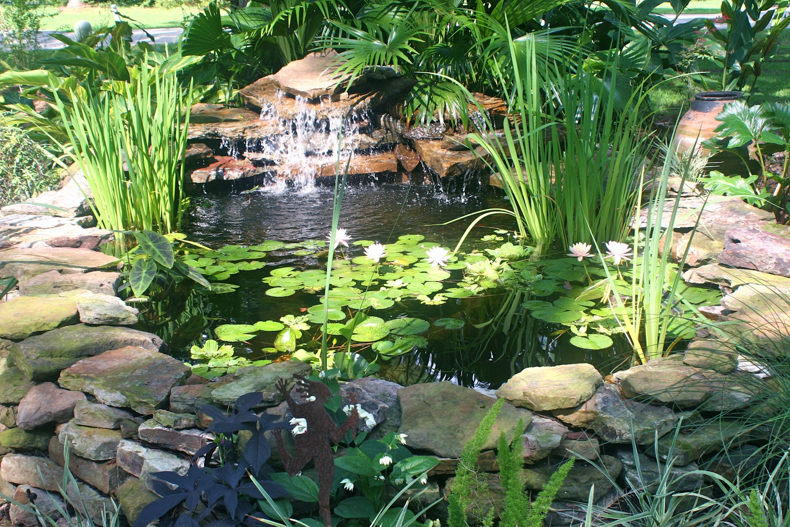 From the pondlady 39 s pad how to build an above ground pond for In ground koi pond