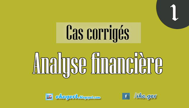 Cas corrigés - Analyse et diagnostic financier : Cas 1