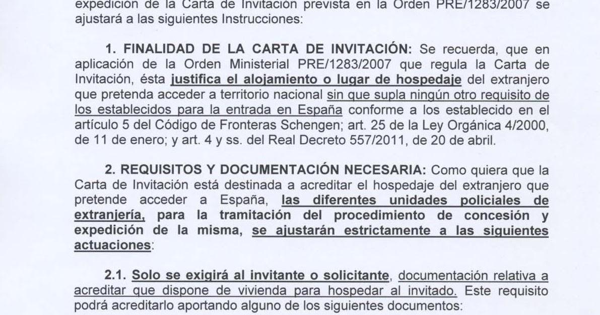 INMIGRACIÓN UNA OPORTUNIDAD: CARTA DE INVITACIÓN 2012 . NUEVOS ...