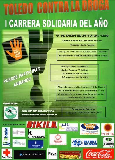 I Carrrera Solidaria contra la droga, en Toledo