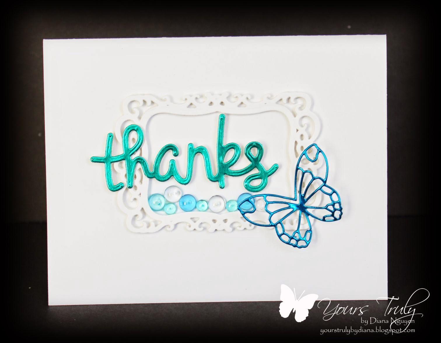 Poppystamps, Lawn Fawn, butterfly, Spellbinders Label 8, Diana Nguyen
