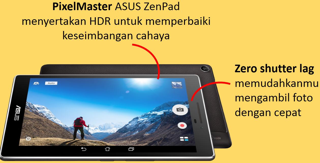 ASUS ZenPad C 7.0, PixelMaster, Zero Shutter Lag, Selfie Panorama