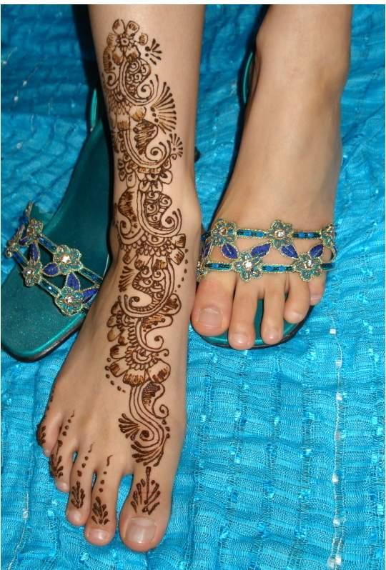 Feet Mehndi Designs Photos : Mehndi designs feet