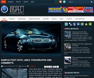 Inspect Blogger Template