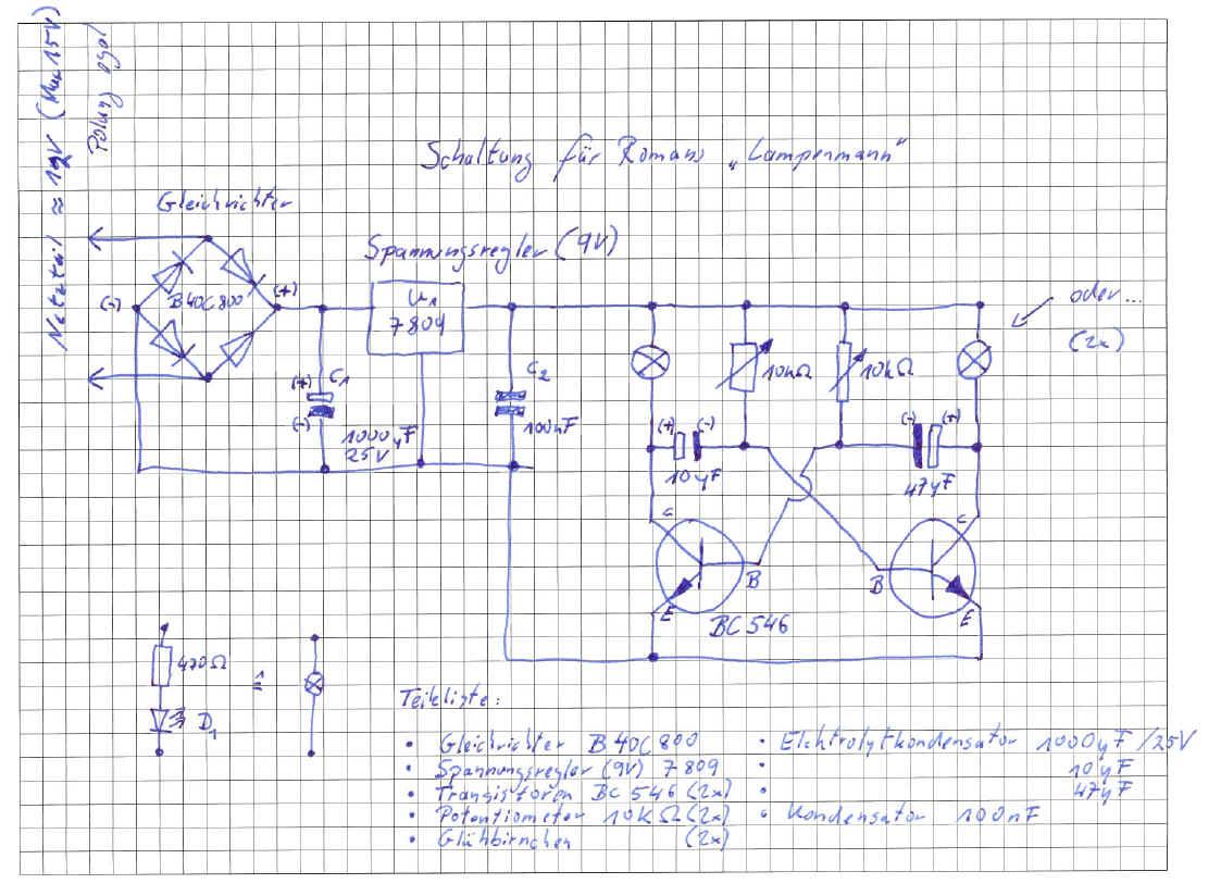 Roman\'s Kinderelektronik: Astabiler Multivibrator