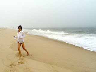 Flygirl Josée at East Hampton beach, NY
