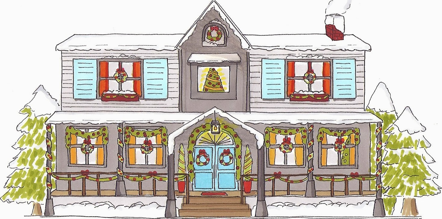 Illustration maison de Noël