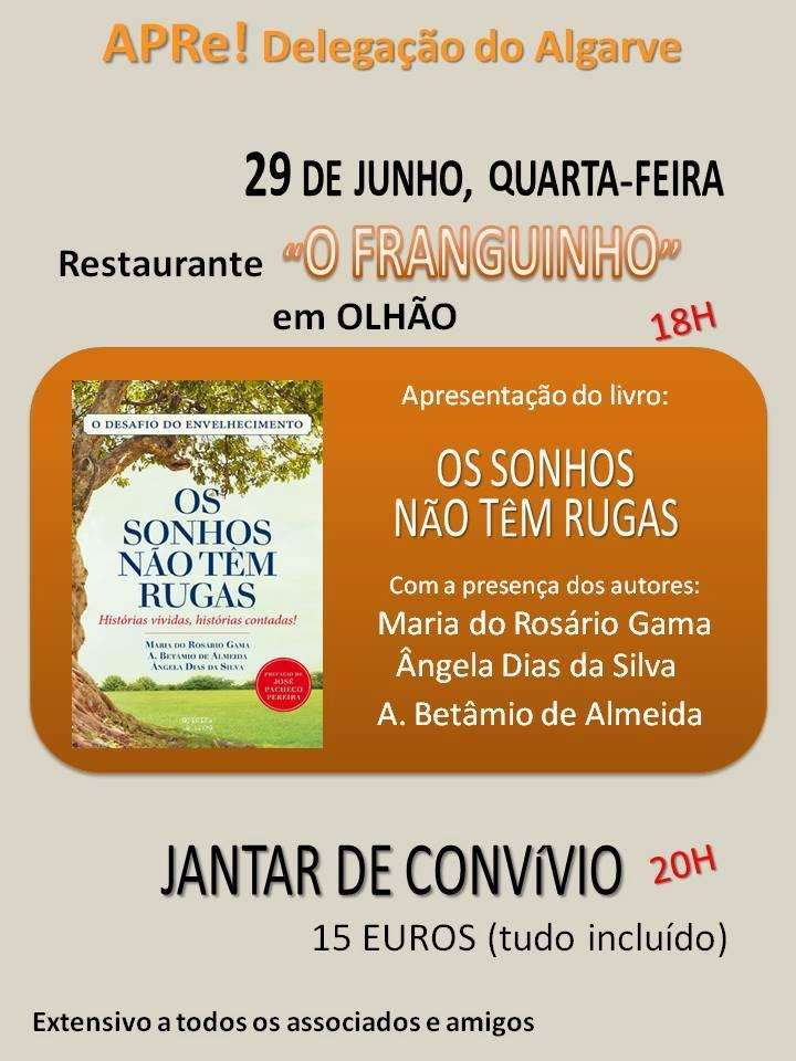 """""""OS SONHOS NÃO TÊM RUGAS"""", apresentação do livro em Olhão"""