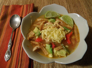 Bowl of Chili Lime Chicken Soup