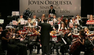 Imagen de una actuación de la joven orquesta sinfónica de Castilla y León