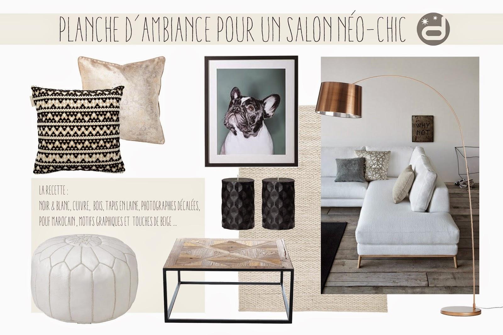 Divin 39 Id Le Blog D Co Planche D 39 Ambiance Pour Un Salon N O Chic Neo Chic Living Room Mood Board