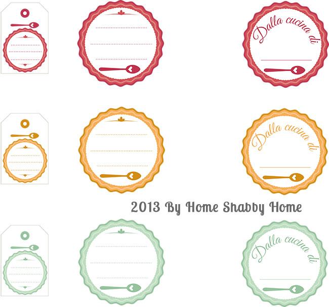 Extrêmement Free Printables}: Etichette per marmellate e conserve - Home  YE62