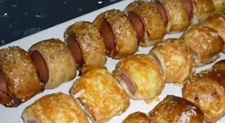 Recetas Pastelitos de Batata mas Salchcicha