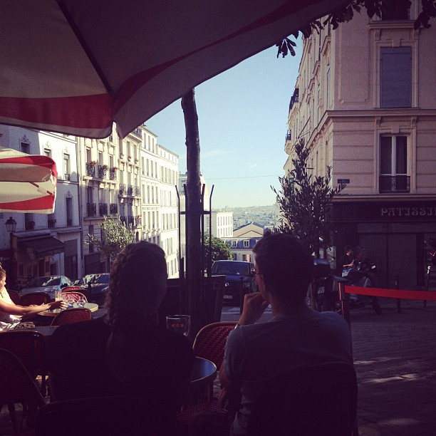 view from a café in montmartre, paris