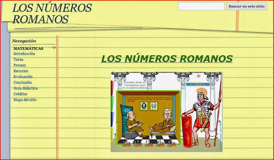"""WEBQUEST """"LOS NÚMEROS ROMANOS"""""""