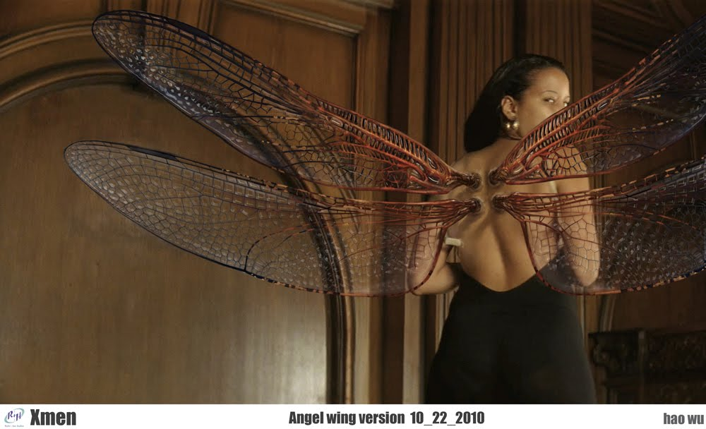 This is one of the many concept art images for AngelX Men Angel Wings Scene
