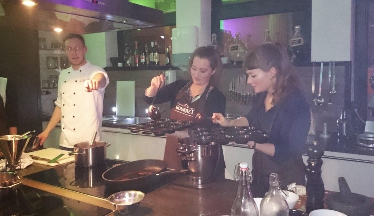 GOURMET-Kochevent Köln: Warme Schokoküchlein