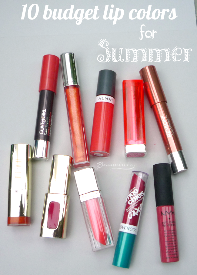 10 best budget lipsticks and lipglosses for summer