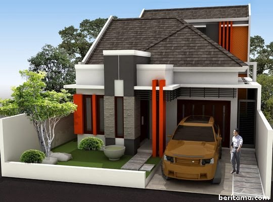 denah rumah minimalist dua lantai