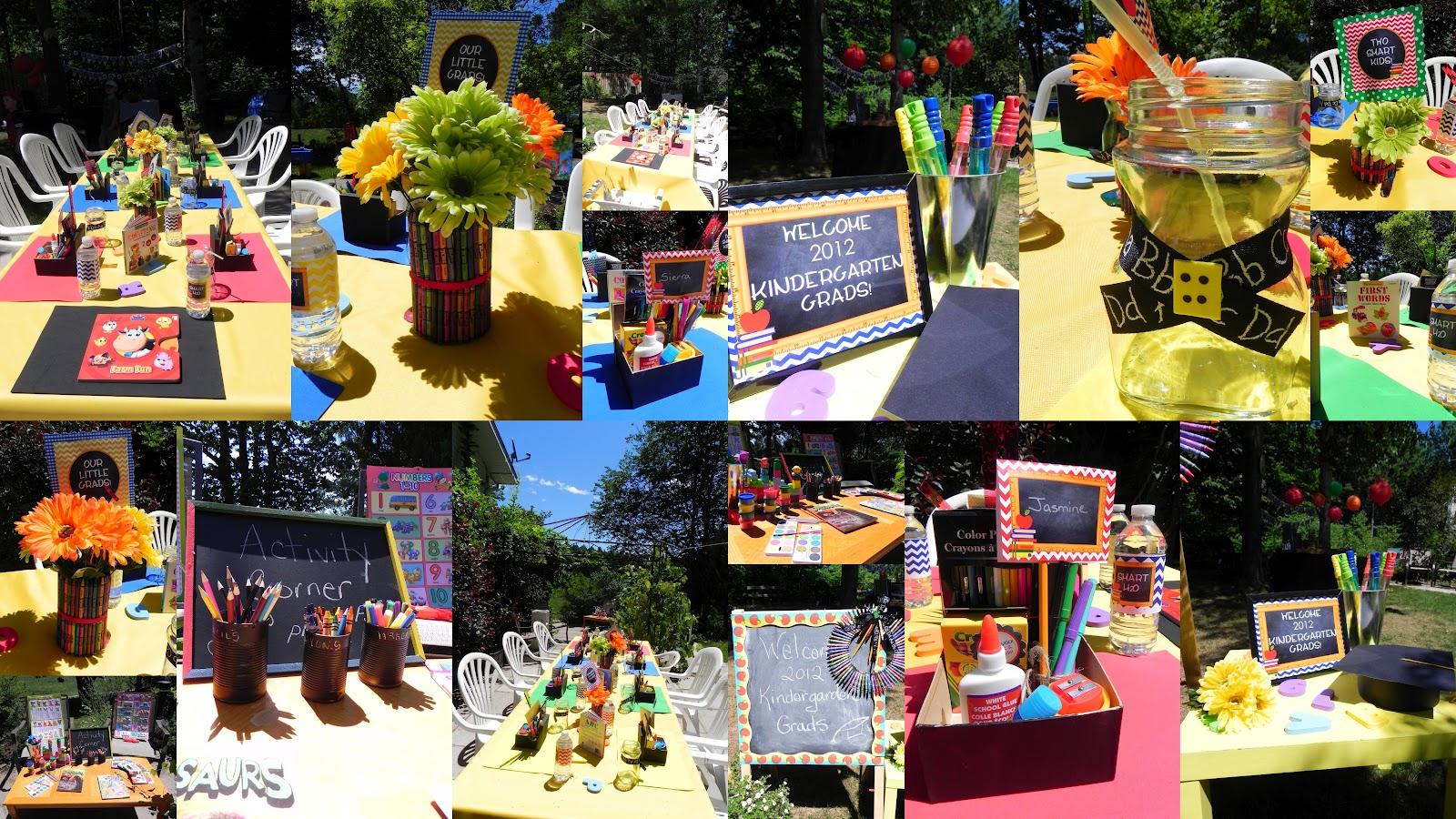 Jazzy celebrations kindergarten graduation party for 8th grade graduation decoration ideas