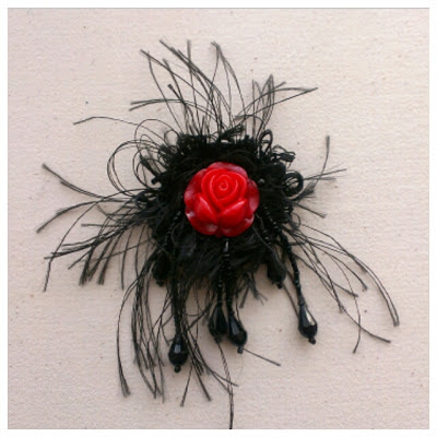 Miss Chaela Boo: Crafty Creatives Box 11 - Beaded rose brooch