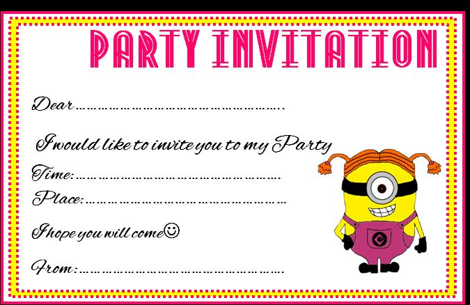 Minions Birthday Invitation with perfect invitations sample