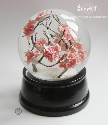 sakura snowglobe