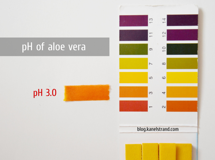 pH of Aloe Vera