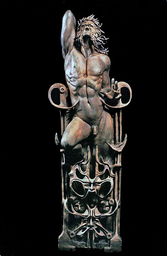 Robert John Guttke Sculpture: Reclined Organic Male