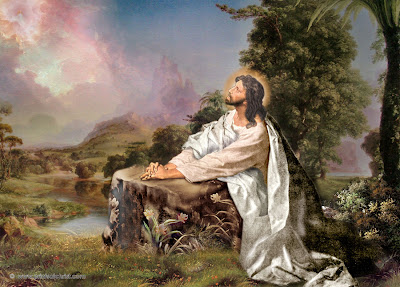 Jesus In Praying Painting Picture