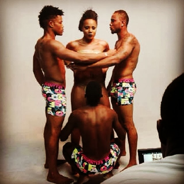 Maheeda getting head on set of her music video ..