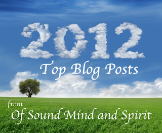 2012, Blog, Of Sound Mind and Spirit, Year Review