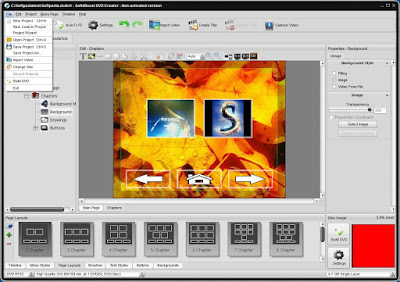 DVD menus creator software