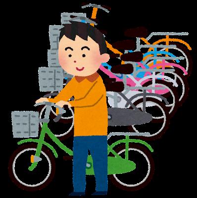 自転車置き場のイラスト