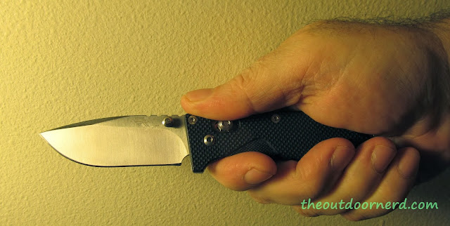 SanRenMu GB-763 Pocket Knife - Held In Hand