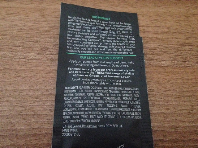 Tresemme Split Remedy Split Mend & Protect Leave In Treatment Sachet