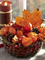 декорация с листа и шишарки