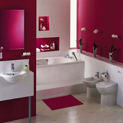 the best modern design: modern pink bathroom