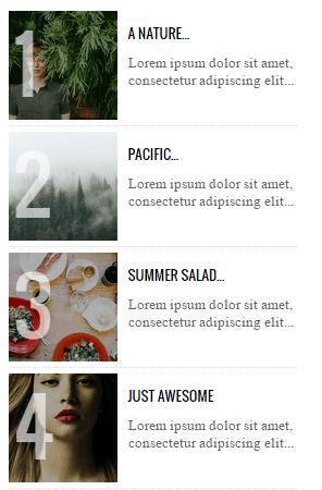 Messages populaires style 5 - Articles numérotés pour Blogger