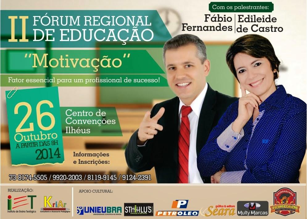 II Fórum Regional de Educação