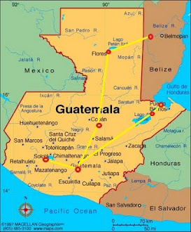 Guatemala Route Map