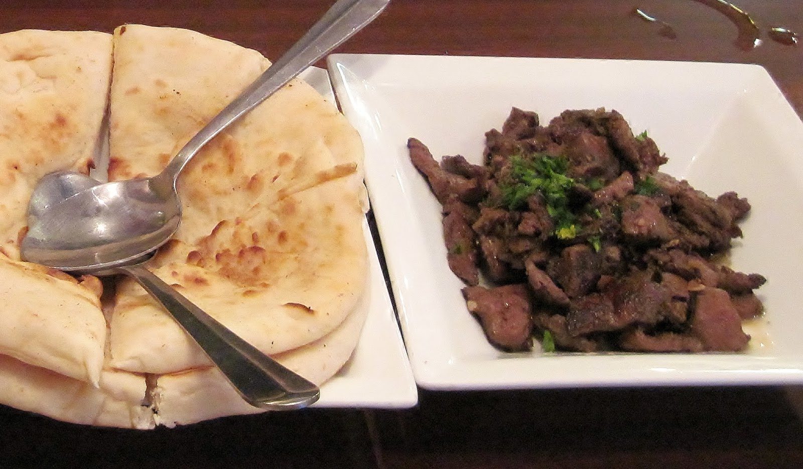 Egyptian style calf liver