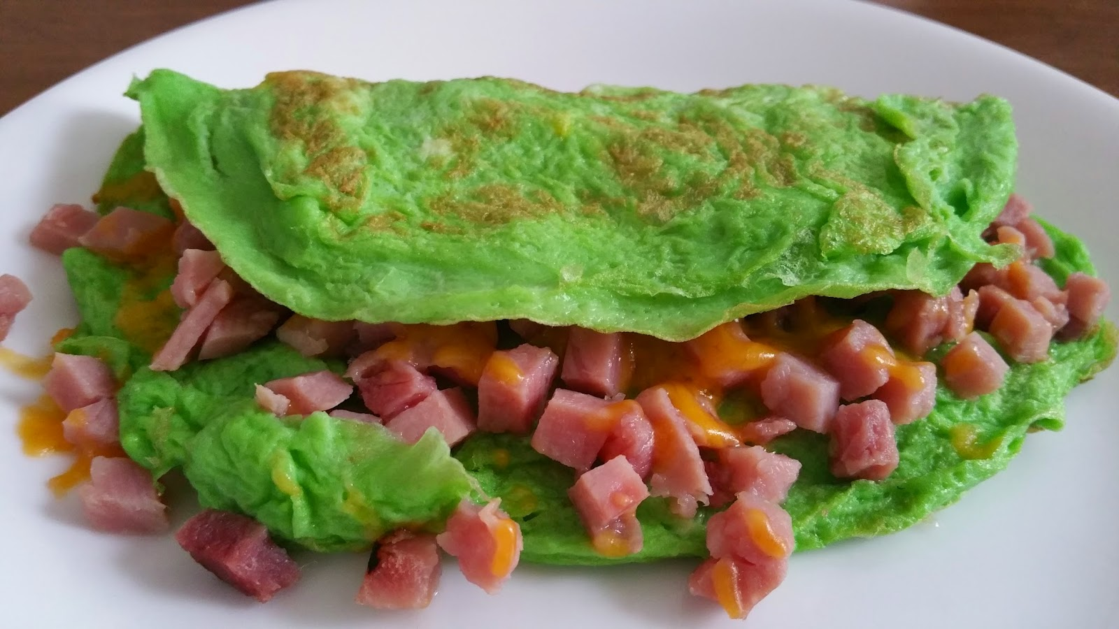 ... Author/Blogger: Seuss-Inspired Green Eggs and Ham and Cheese Omelet