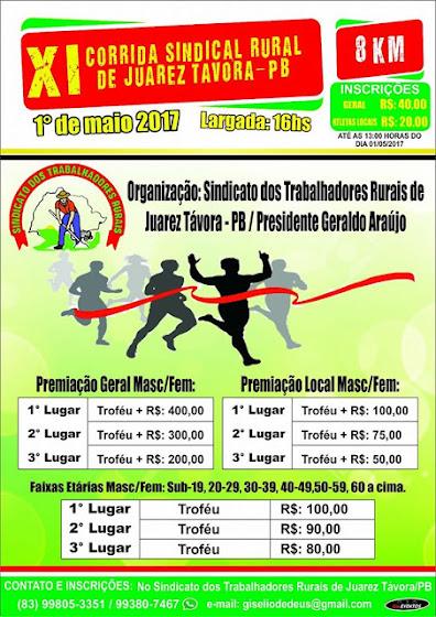 CORRIDA SINDICAL RURAL DE JUAREZ TÁVORA/PB